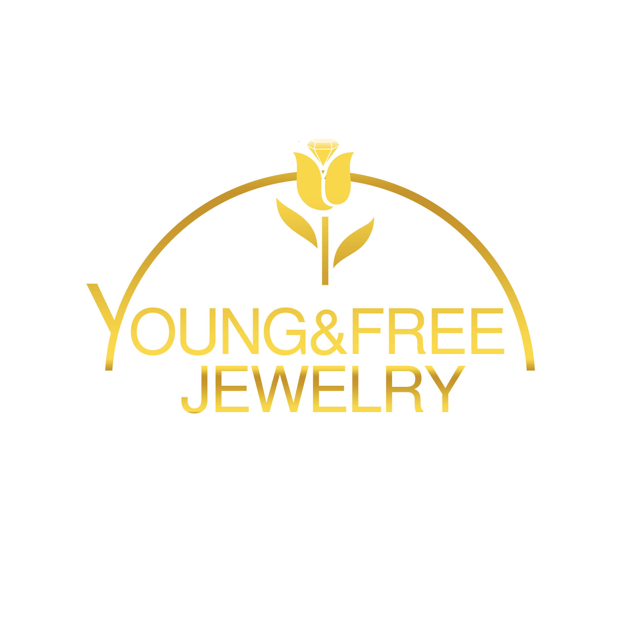 Logo young & free jewelry